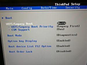 UEFI - Legacy first