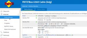 Fritzbox Online Übersicht