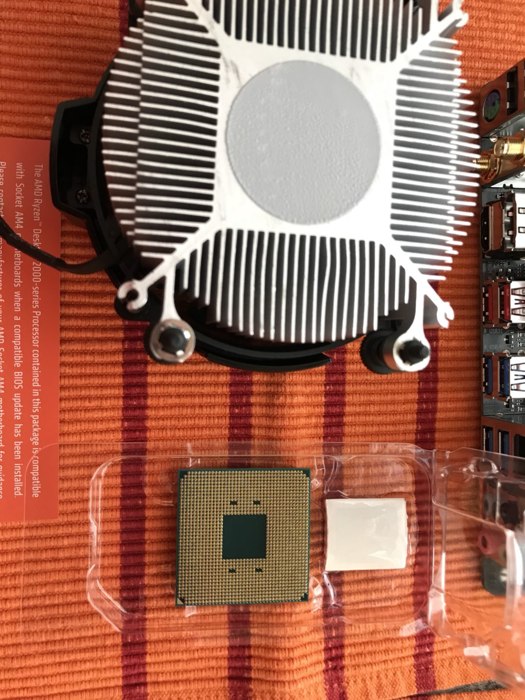 Unterseite CPU und Kühler