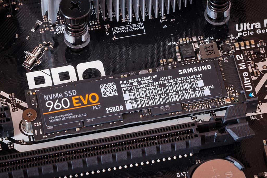 Samsung 960 EVO in M.2 slot