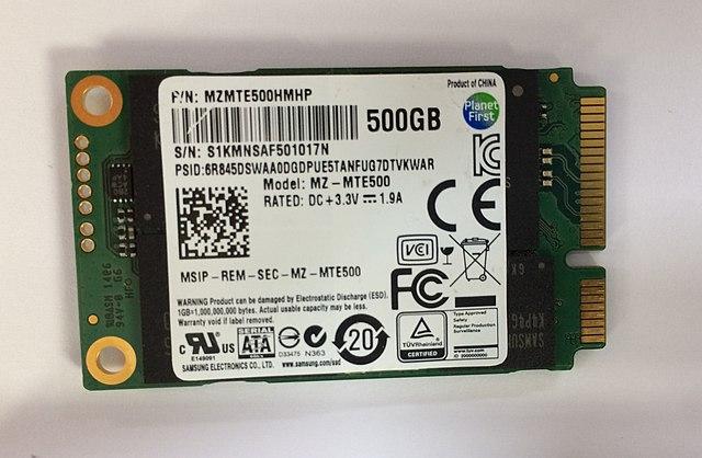 Samsung 840EVO SSD 500GB mSATA