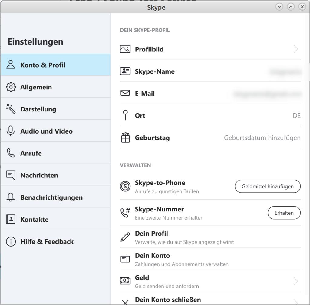 Skype - Linux Desktop
